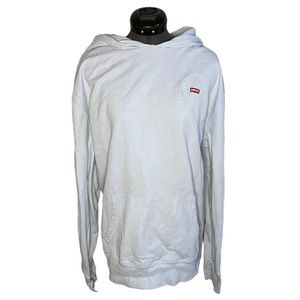 Levi's Baby Blue Pullover Cotton Blend Hoodie